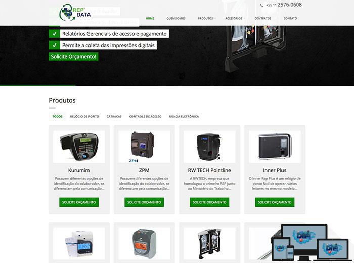 Layout desenvolvido para o webSite REPDATA